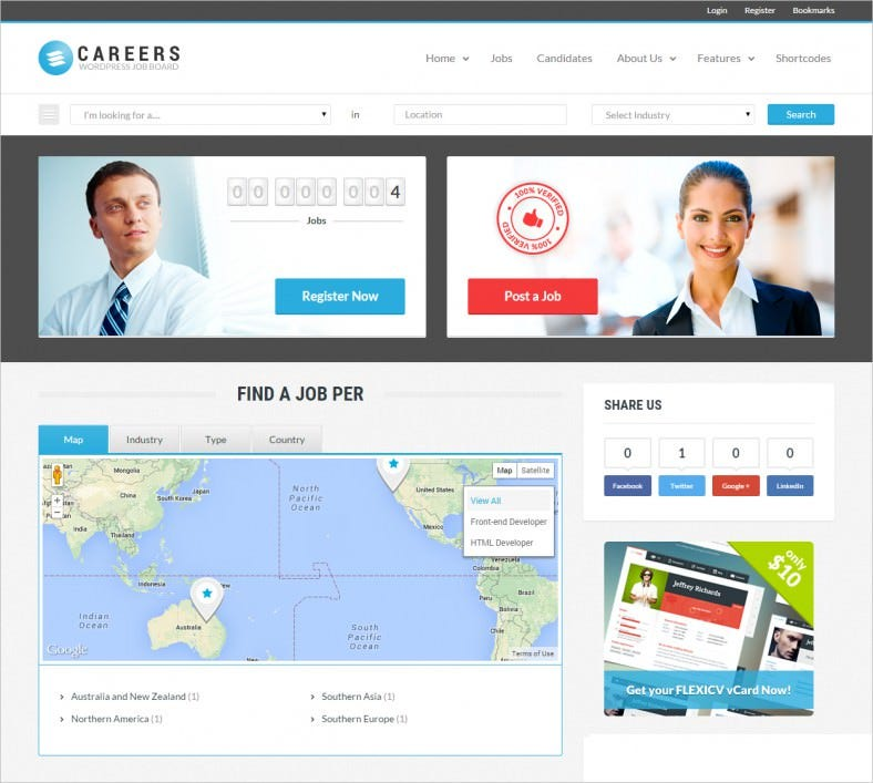 careers job portal candidates wp theme 788x707