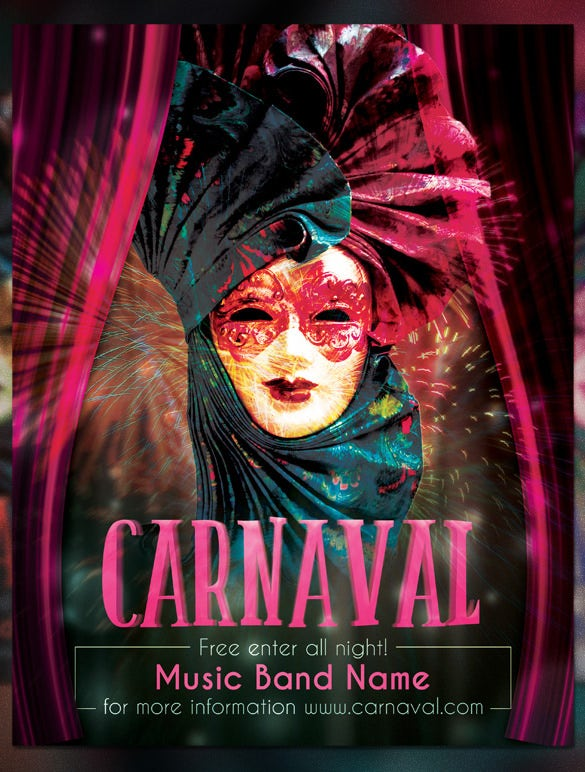 carnival event flyer template