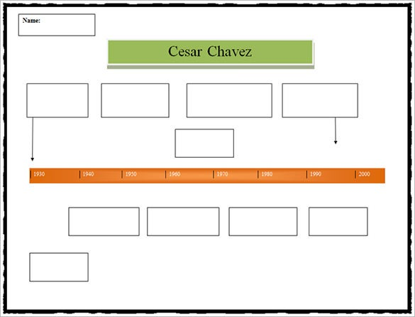 cesar chavez biography timeline template example