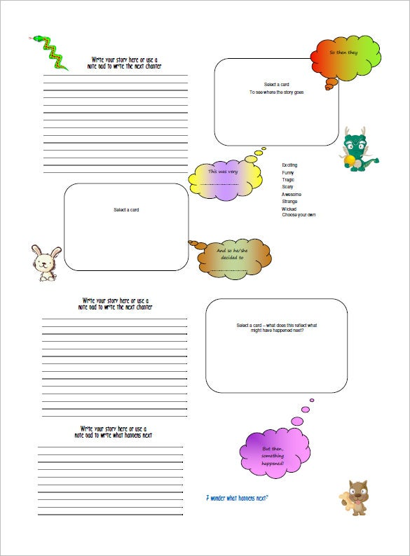 children storyboard template chart