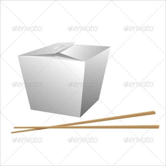 chinese meal takeout box template
