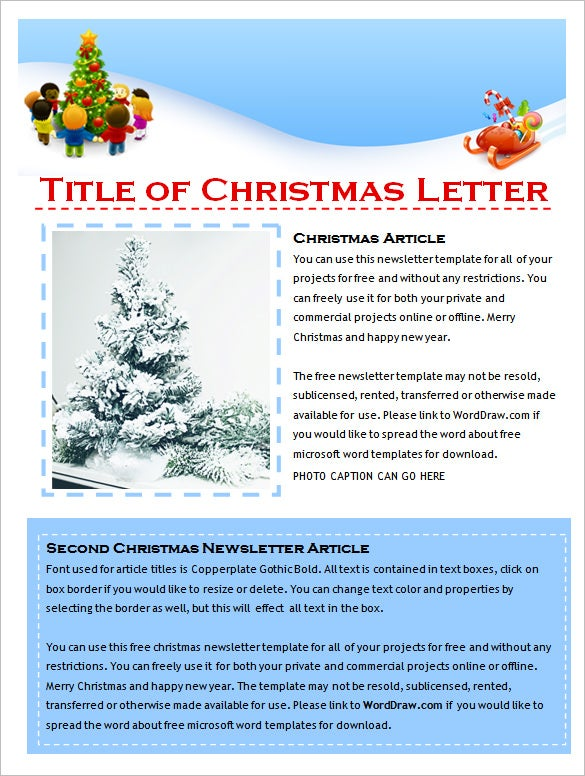 9 holiday newsletter templates free word documents for Free newsletter templates downloads for word