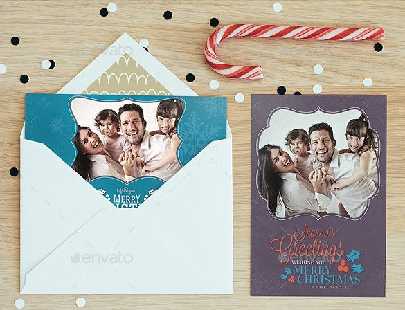 christmas psd photo card template
