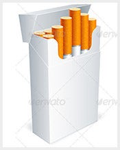 Cigarette Box Template