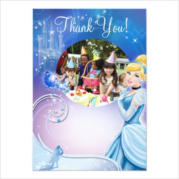 cinderella 3 birthday thank you cards