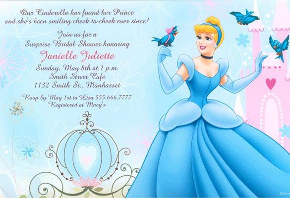 cinderella ball bridal invitation