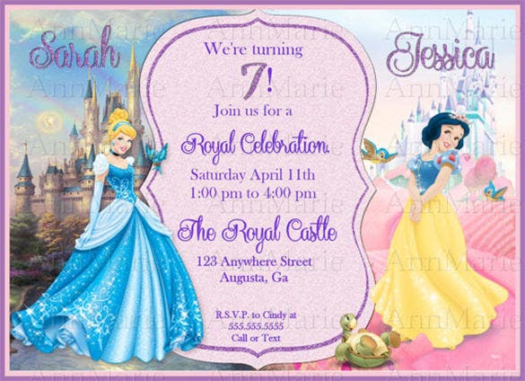 Sample invitation card for 7th birthday party 100 cover letter 12 amazing cinderella invitation templates designs free 7th birthday party invitation stopboris Images