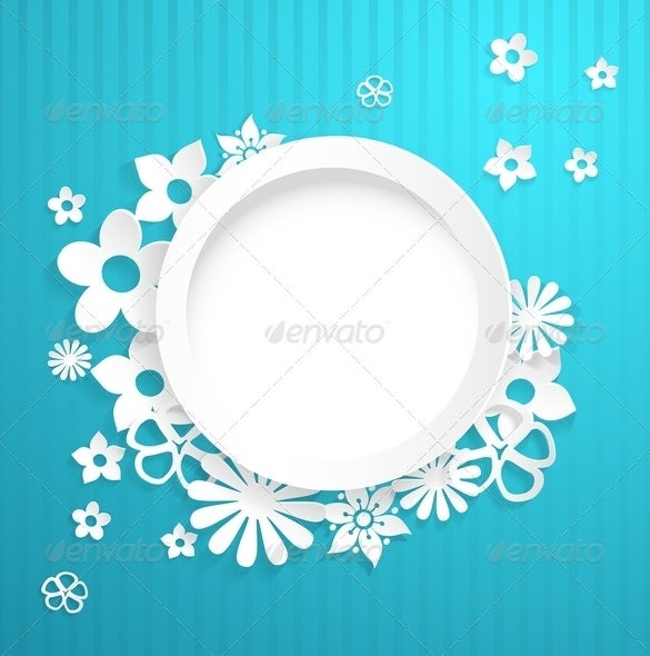 circle and papercraft flower template