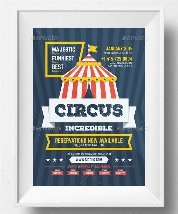 Circus Party Invitation Template u2013 23+ Free JPG, PSD Format Download ...