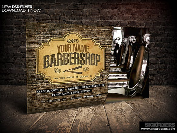 classic barber shop flyer templates