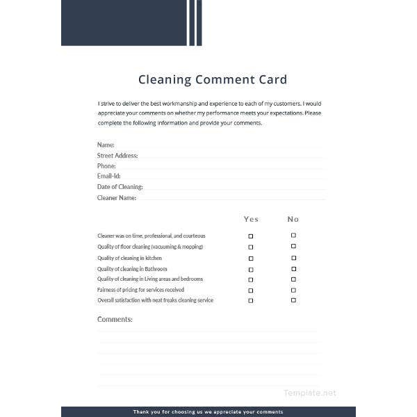 cleaning-comment-card-template