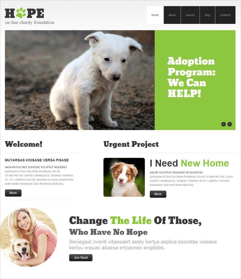 clear animal shelter wordpress theme 788x911