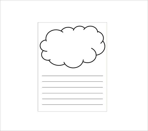cloud writing template free download
