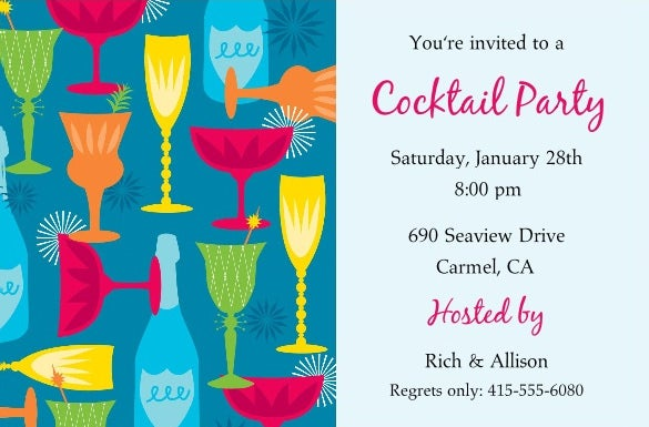 cocktail party psd invitation