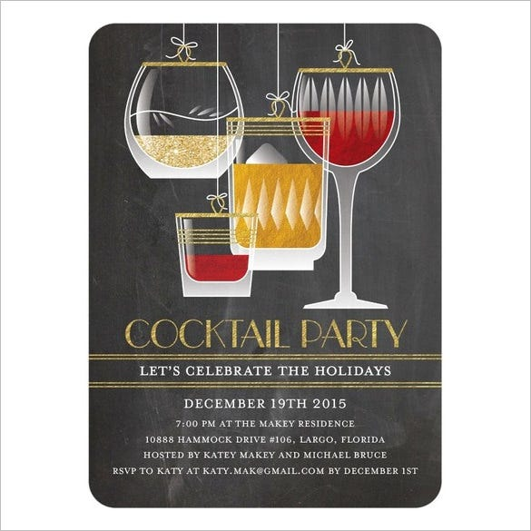 cocktail party photoshop invitation template