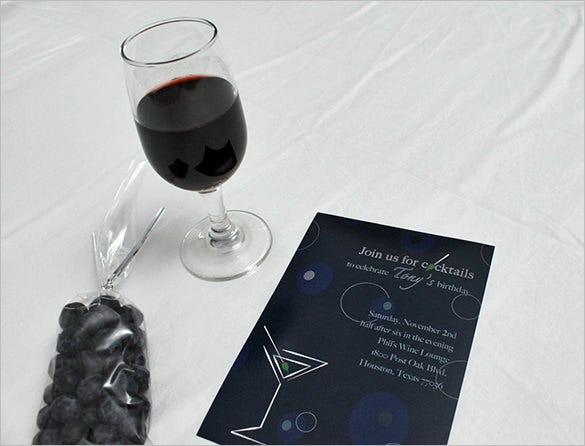 cocktails and toasts invitation template