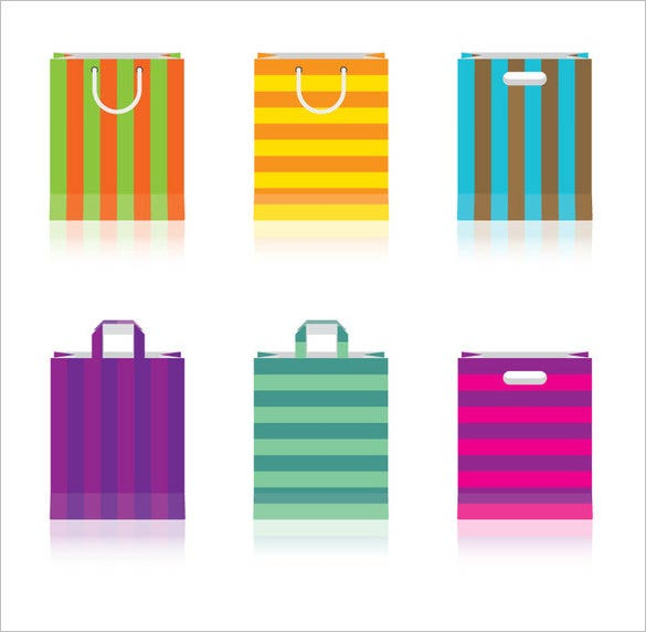 colored paper bag vector ai