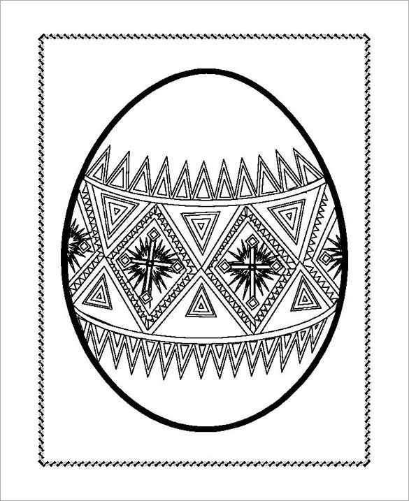 coloring page easter egg template free download