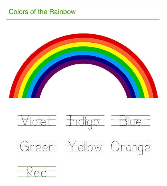Rainbow Templates  Free Pdf Documents Download  Free  Premium