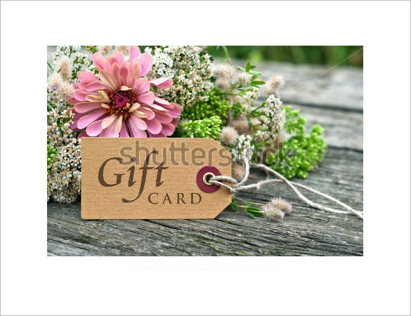 colourful psd gift card template