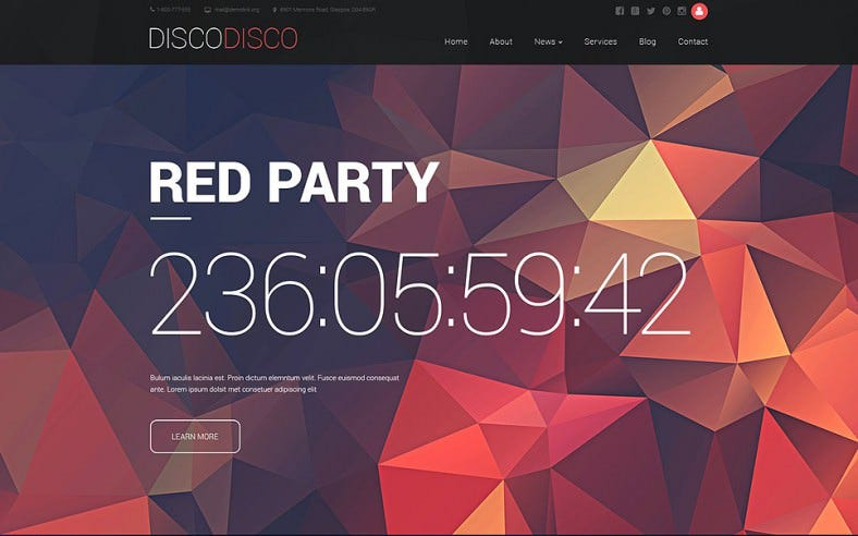 Colourful Party Drupal Template