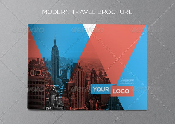 colourful travel brochure psd design