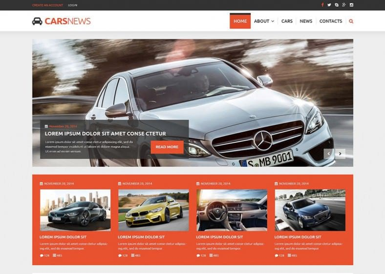 Commants Extension integrated Joomla Template for Auto Part