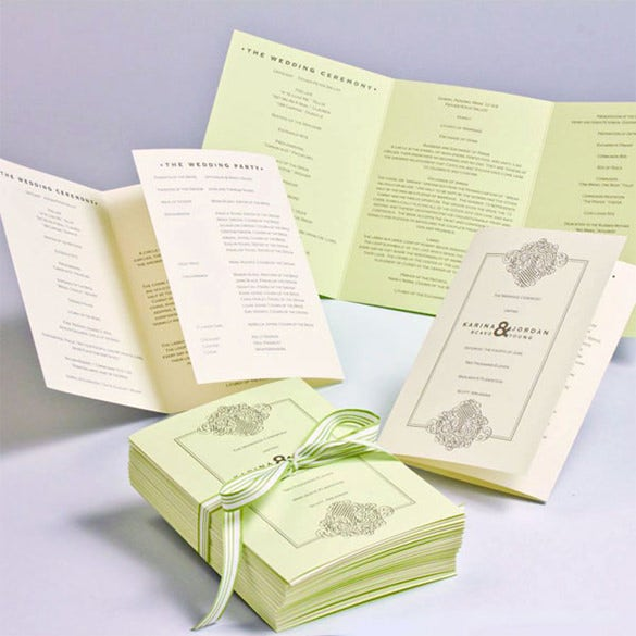 wedding ceremony program template