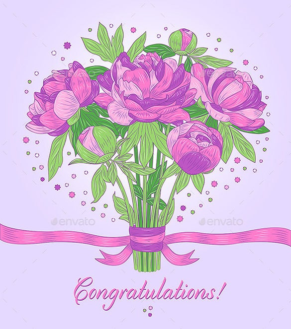 photo relating to Free Printable Congratulations Cards named 11+ Congratulations Card Templates - PDF, PSD, EPS No cost