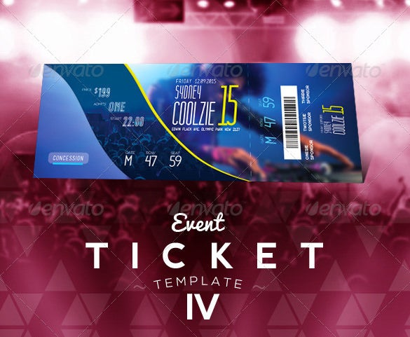 Ticket Templates – 99+ Free Word, Excel, PDF, PSD, EPS ...