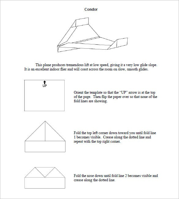 condor paper airplane designs for distance