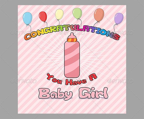 congratulation baby birth card template