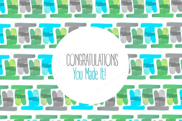 congratulations card pattern template for 3