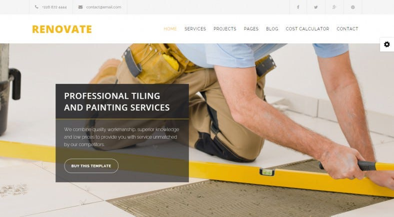 Construction Renovation Joomla Template