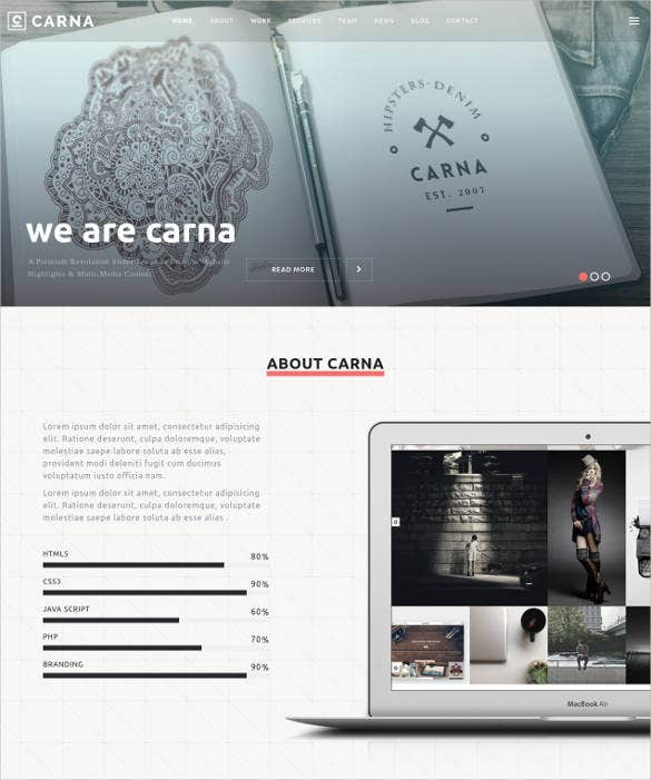 cool responsive parallax website template