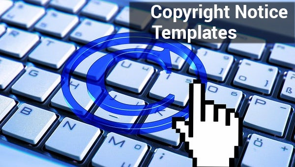 copyright notice templates