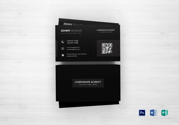 corporate agency business card