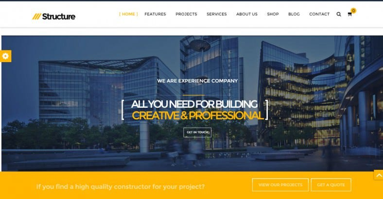 Corporate Construction Joomla Template