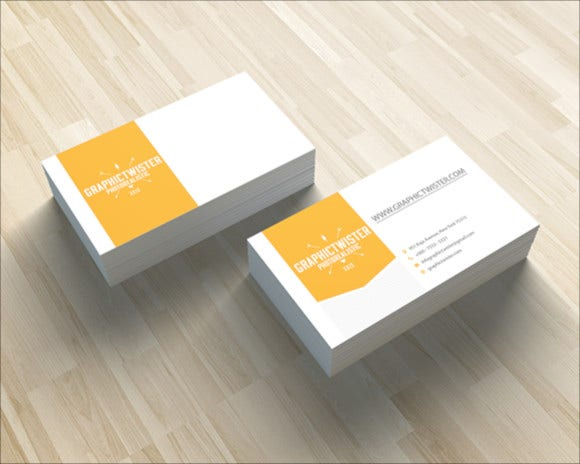 corporate-yellow-business-card