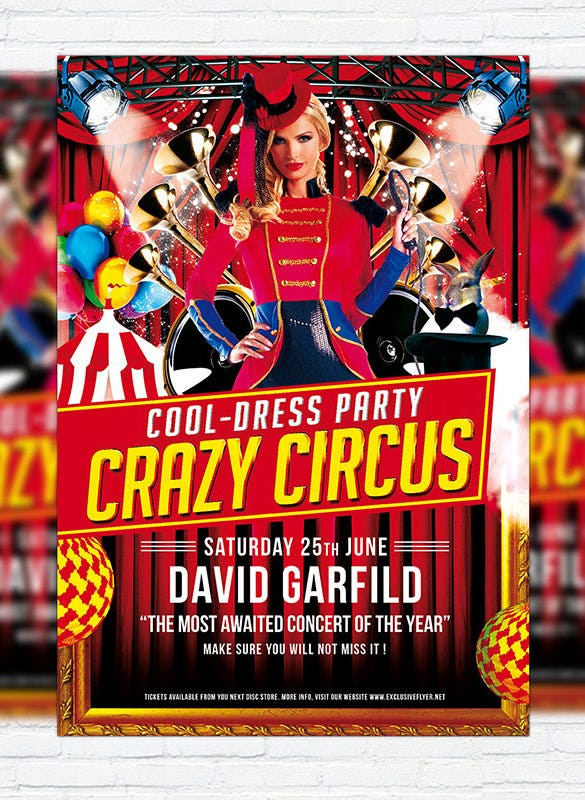 circus party invitation template  u2013 23  free jpg  psd