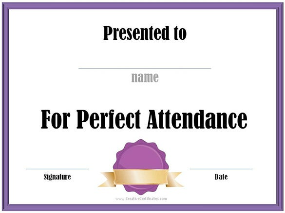 11+ Attendance Certificate Templates - Free Word, PDF Format Download ...
