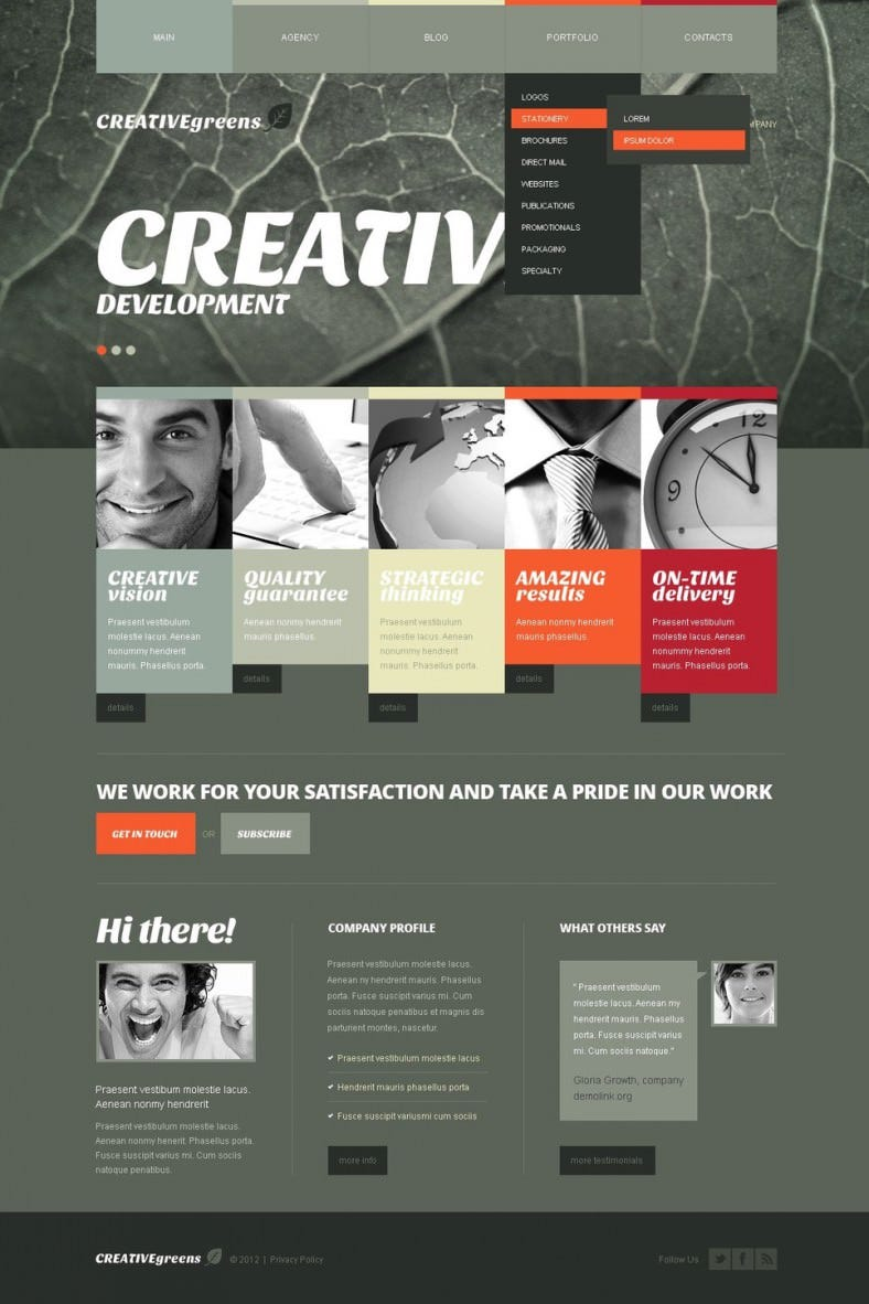 Advertising Agency Joomla Website Templates & Themes | Free ...