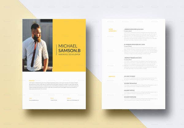 creative android developer resume template1