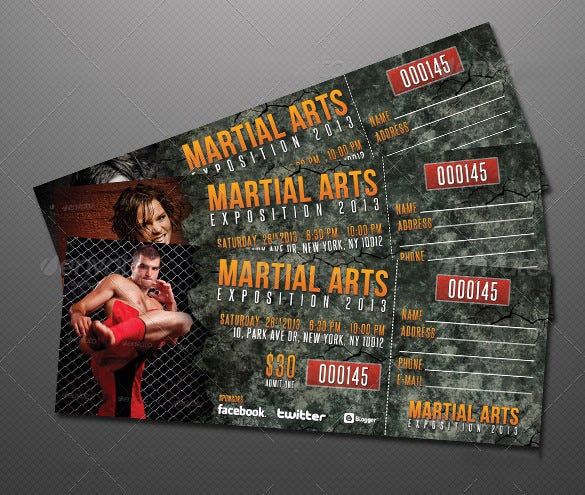 Creative Event Ticket Template Design  Event Ticket Template
