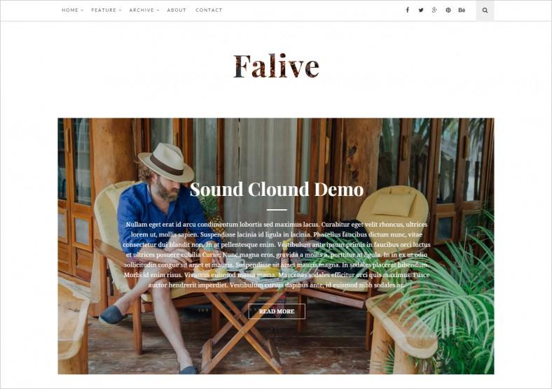 Creative Fashion Blog Drupal Theme