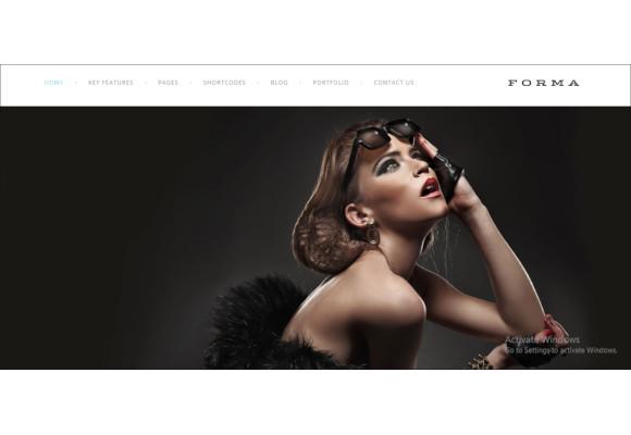 creative fashion photogrpahy drupal theme