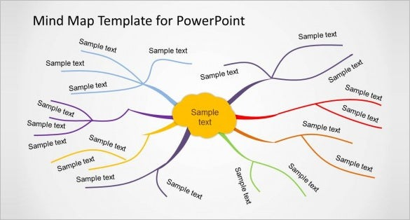creative mind map template for powerpoint download