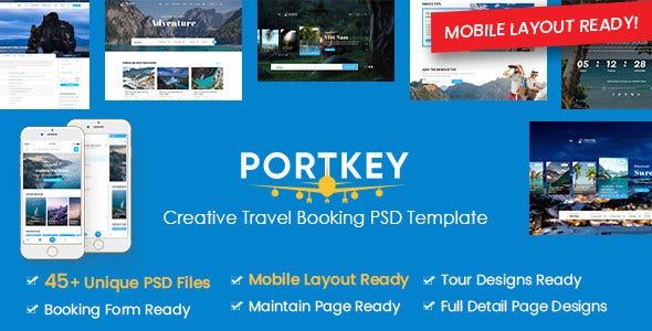creative tour travel booking psd template