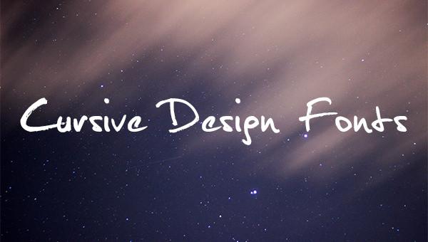 cursive design fonts