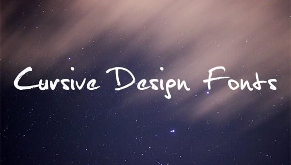 cursivedesignfonts